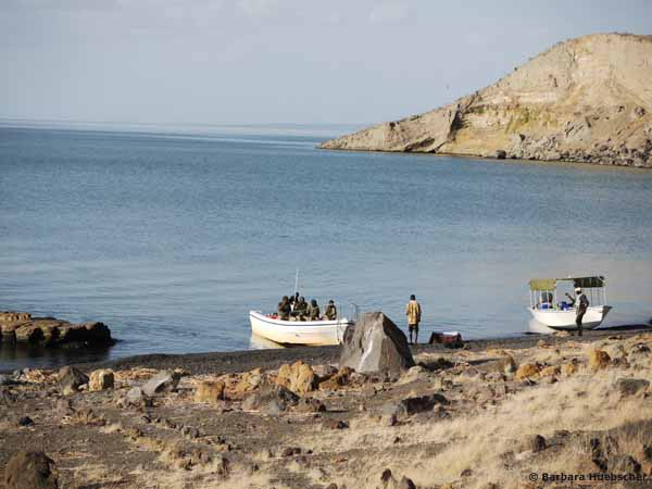 Central Island, Crocodile Island, Turkana Land, Kenia