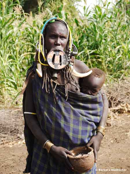 Mursi, Mago Nationalpark, Omo Valley, Omo Tal,