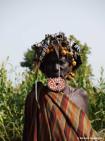 Mursi, Mago Nationalpark, Omo Valley, Omo Tal, Safari Äthiopien